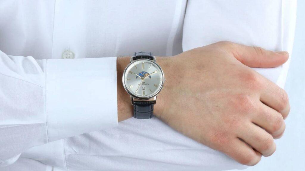 Orologio con Fasi lunari al Quarzo: Philip Watch Cinturino in Pelle R8251595001