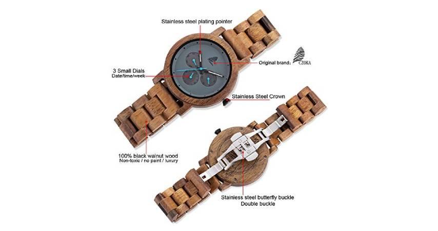 Recensione di 8 modelli in legno di Czoka Orologi
