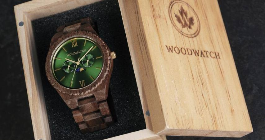 Orologi  WoodWatch: Emerald Jungle, Realizzato a mano