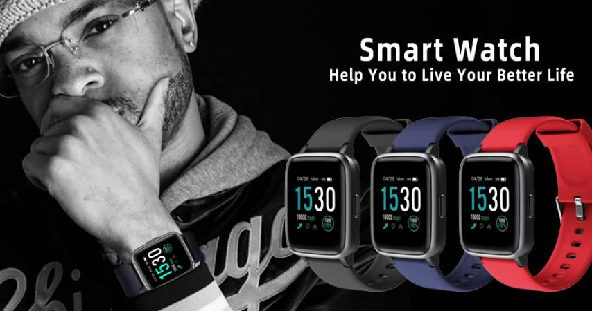 KUNGIX Smart Watch Pressione Sanguigna e Cardiofrequenzimetro Impermeabile IP68 disponibile in varie colorazioni
